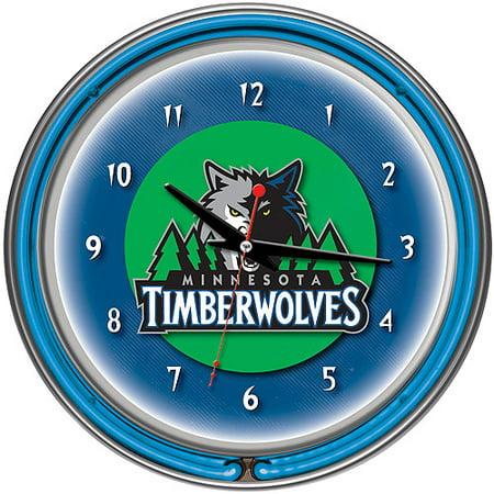 "Minnesota Timberwolves NBA 14"" Neon Wall Clock by"