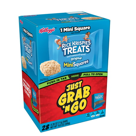 Kellogg's Rice Krispies Treats Original Mini Squares, 0.4 Oz., 28 Count (Rice Krispies Pumpkin Treats)