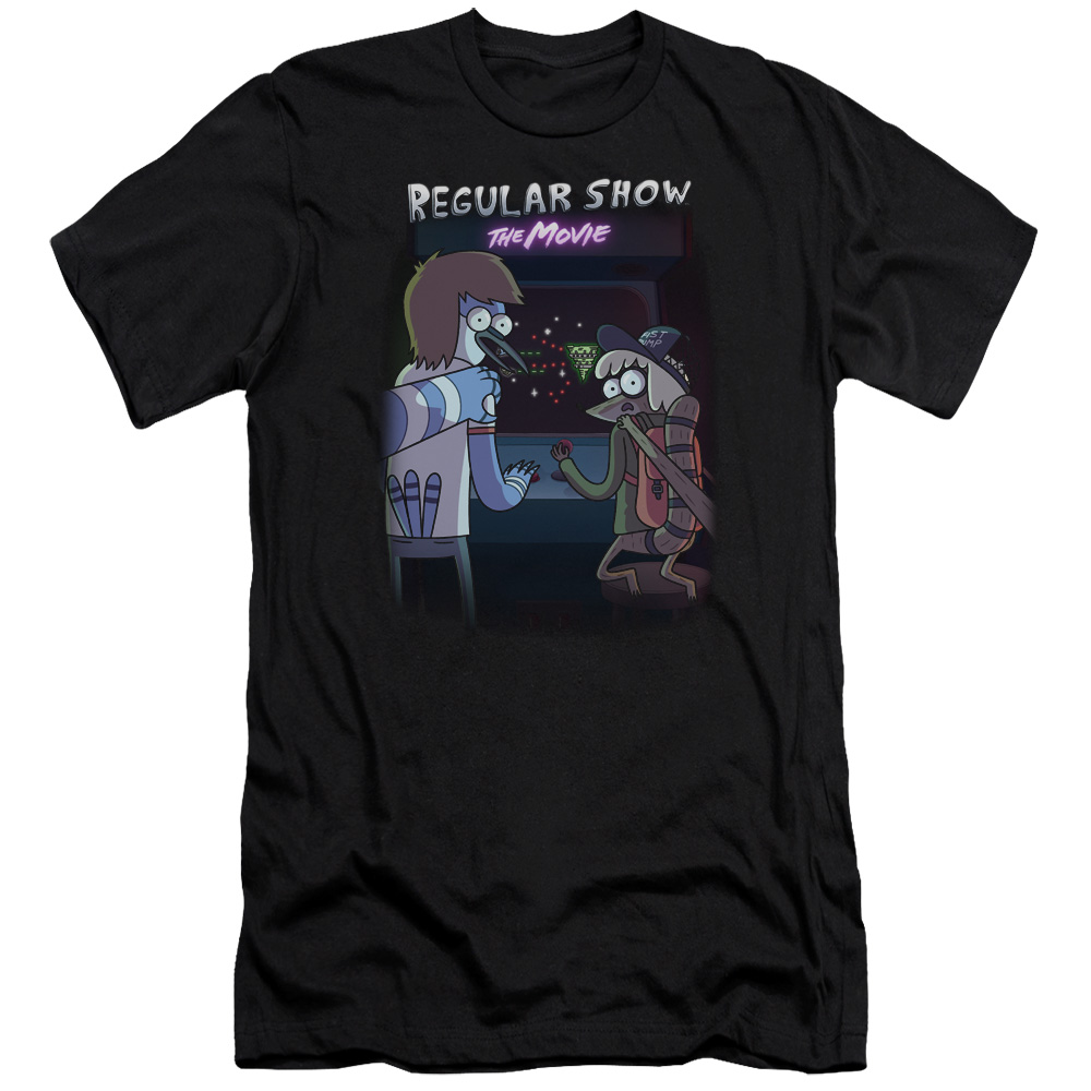 Regular Show Rs The Movie T-shirt Black Adult Unisex 100% Cotton Short Sleeve
