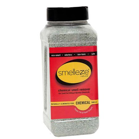Powder Odor Remover - SMELLEZE Natural Chemical Odor Remover Powder: 50 lb. Bag. Ideal for Indoor Carpet, Furniture & Other Chemical Odors & Spills