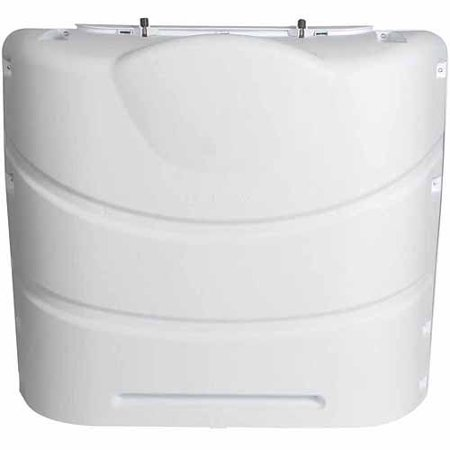Camco Propane Tank Cover  Polarwhite  Fits 20 30  Steel Double Tank