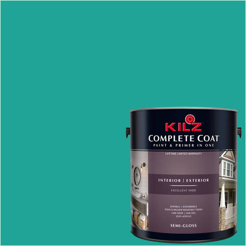 KILZ COMPLETE COAT Interior/Exterior Paint & Primer in One #RH150 Deep Teal