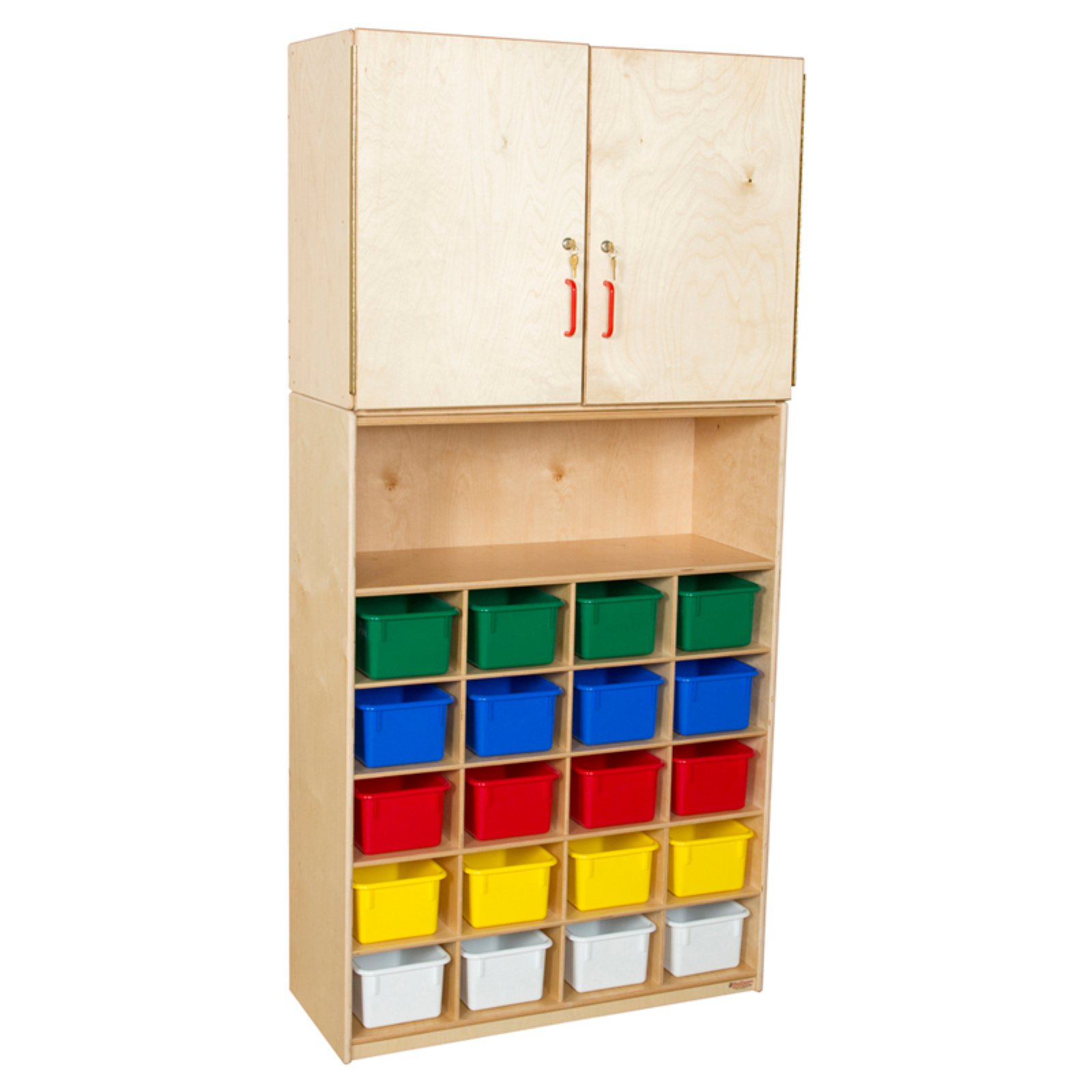 Wood Designs 20 Tray Vertical Storage Cabinet with Trays