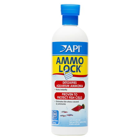 API Ammo-Lock, Freshwater And Saltwater Aquarium Ammonia Detoxifier, 16 oz