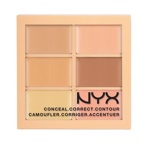 (3 Pack) NYX Conceal, Correct, Contour Palette - Light