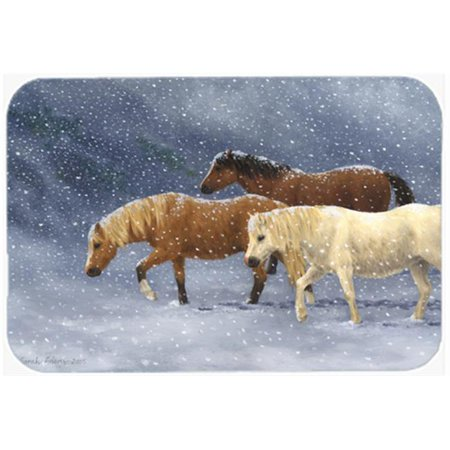 Seeking Shelter Horses Kitchen or Bath Mat, 20 x 30