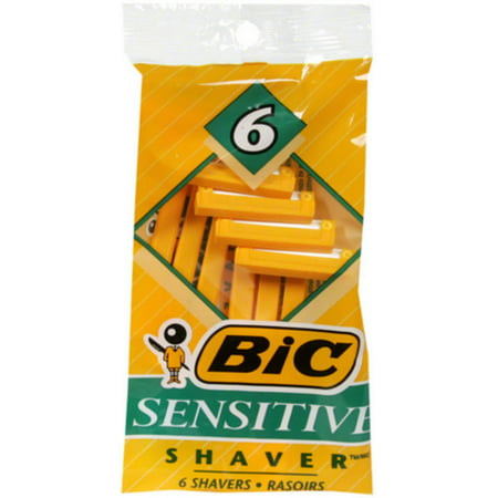 Bic Shavers Sensitive 6 Each (Pack of 2)
