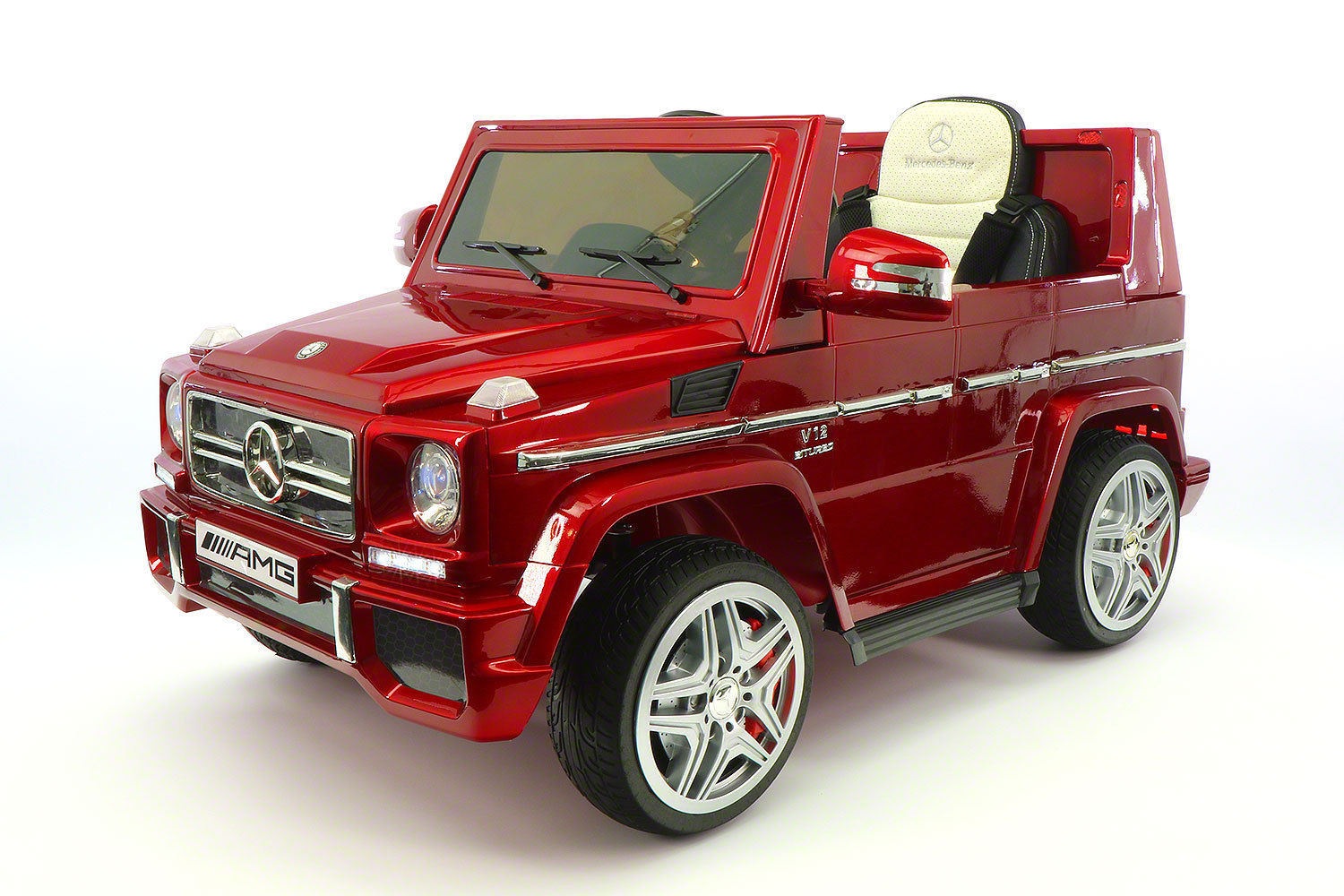 mercedes benz g65 amg 12v battery powered ride on toy car with mp3 and rc cherry red walmartcom