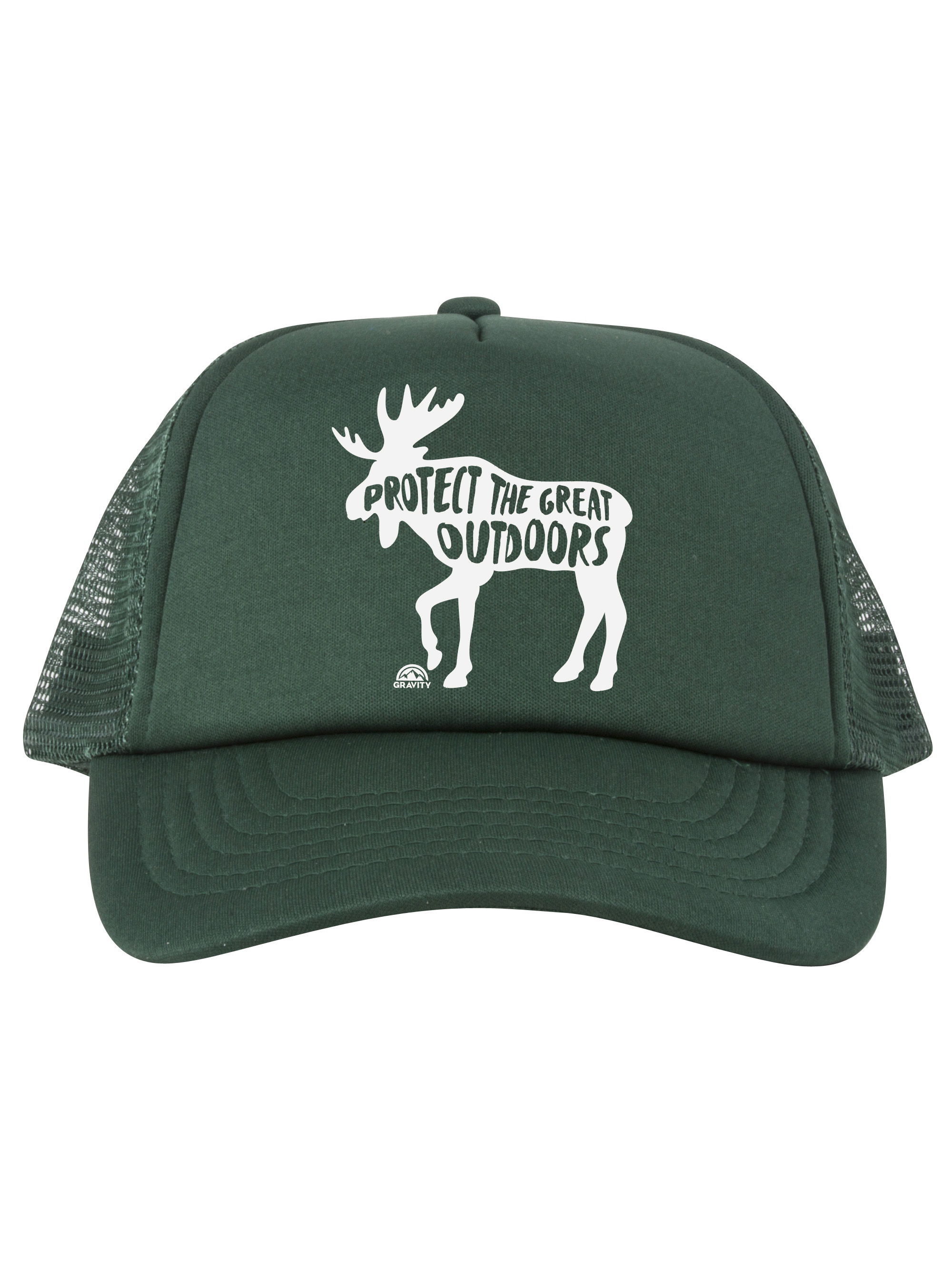 120c944b33f1d Protect the Great Outdoors Moose Trucker Hat - Black - Neon Orange - image  1 of zoomed image