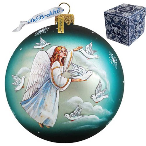G Debrekht Angel Doves Ball Ornament