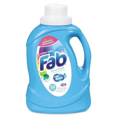 Fab Ultra Dazzling Whites Ocean Breeze Laundry Detergent, 50 oz