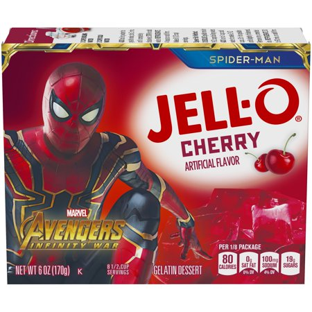 (3 Pack) Jell-O Cherry Instant Powdered Gelatin Dessert, 6 oz Box - Jello Pudding Halloween Desserts