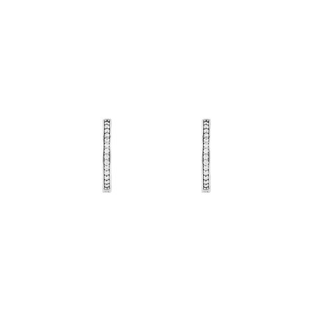 c0a4bf584 PANDORA - Authentic Signature Hoop Earrings in 925 Sterling Silver w/Cubic  Zirconia, 2905... - Walmart.com