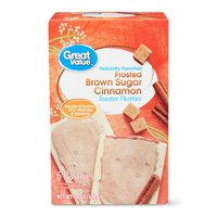 Great Value Frosted Brown Sugar Cinnamon Toaster Pastries, 11 oz