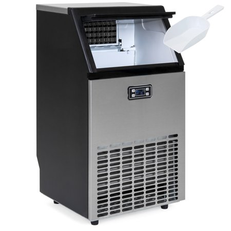Best Choice Products Portable Stainless Steel Commercial Ice Maker w/ Scooper, Timer & Auto Clean, Produces 99lbs