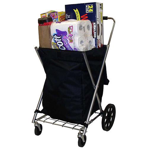 Canvas Shopping Cart, Black