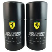 Ferrari Black for Men 2.5 oz 75 ml Deo. Stick (TWO)
