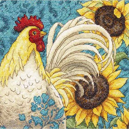 The Gold Collection Counted Cross-Stitch Kit, Petite Rooster, 6