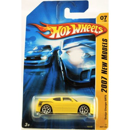 Yellow DODGE CHARGER SRT8 Hot Wheels 2007 New Models Series 1:64 Scale Collectible Die Cast Car Model #07 Dodge Charger Srt8 Wheels