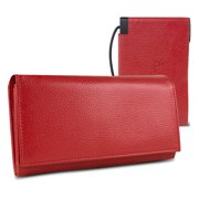 Halo Women's RFID Hack-Proof Power Wallet w/ 3000mAh Power Bank and Cable Red