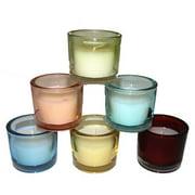 Entrada 6 Piece Glass Candle Holder Set