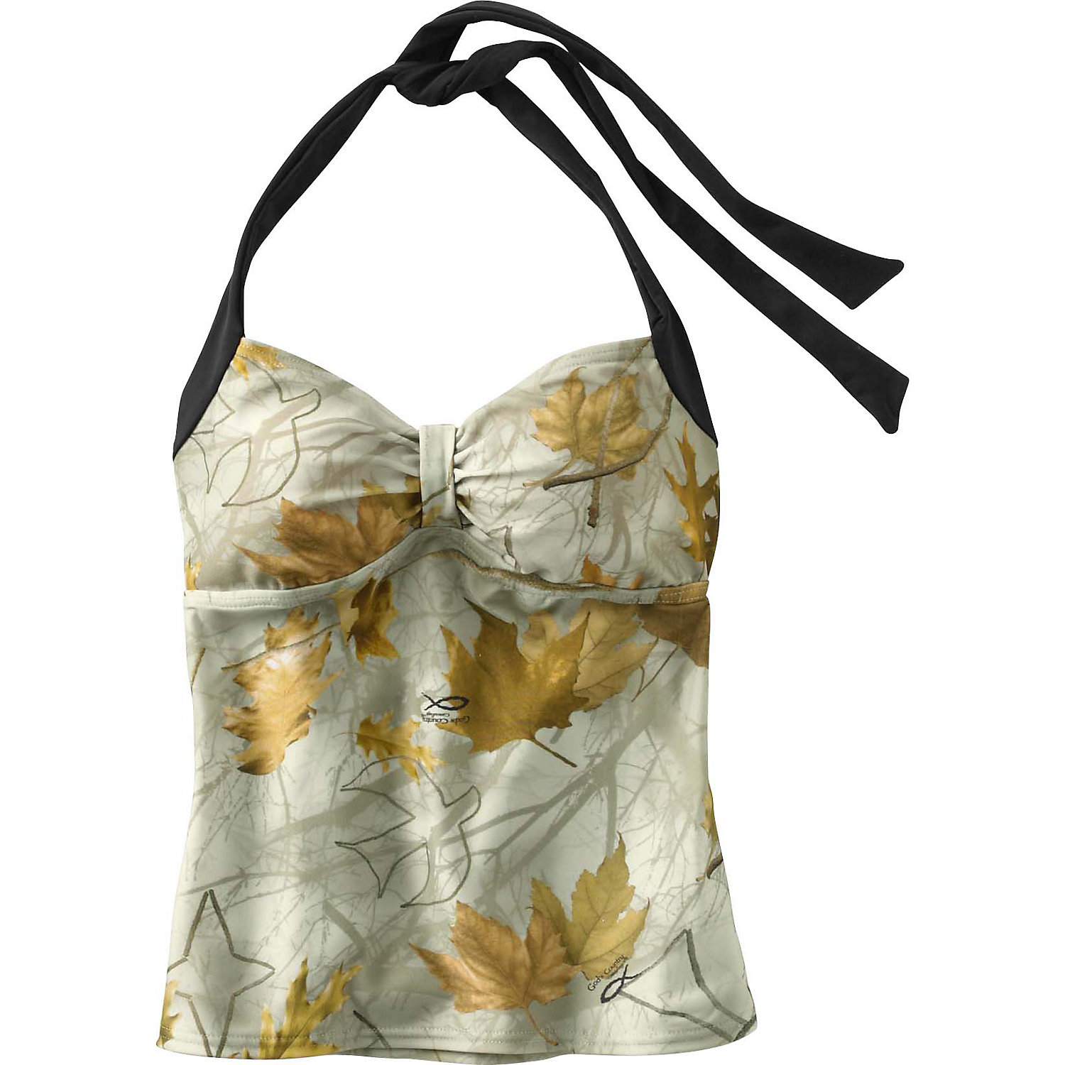 Legendary Whitetails Gods Country Camo Halter Tankini Top