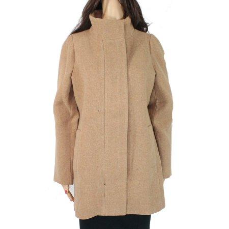 Women's Coat Sand Full Zip Mock Neck $200 4 Sand Wool Blend