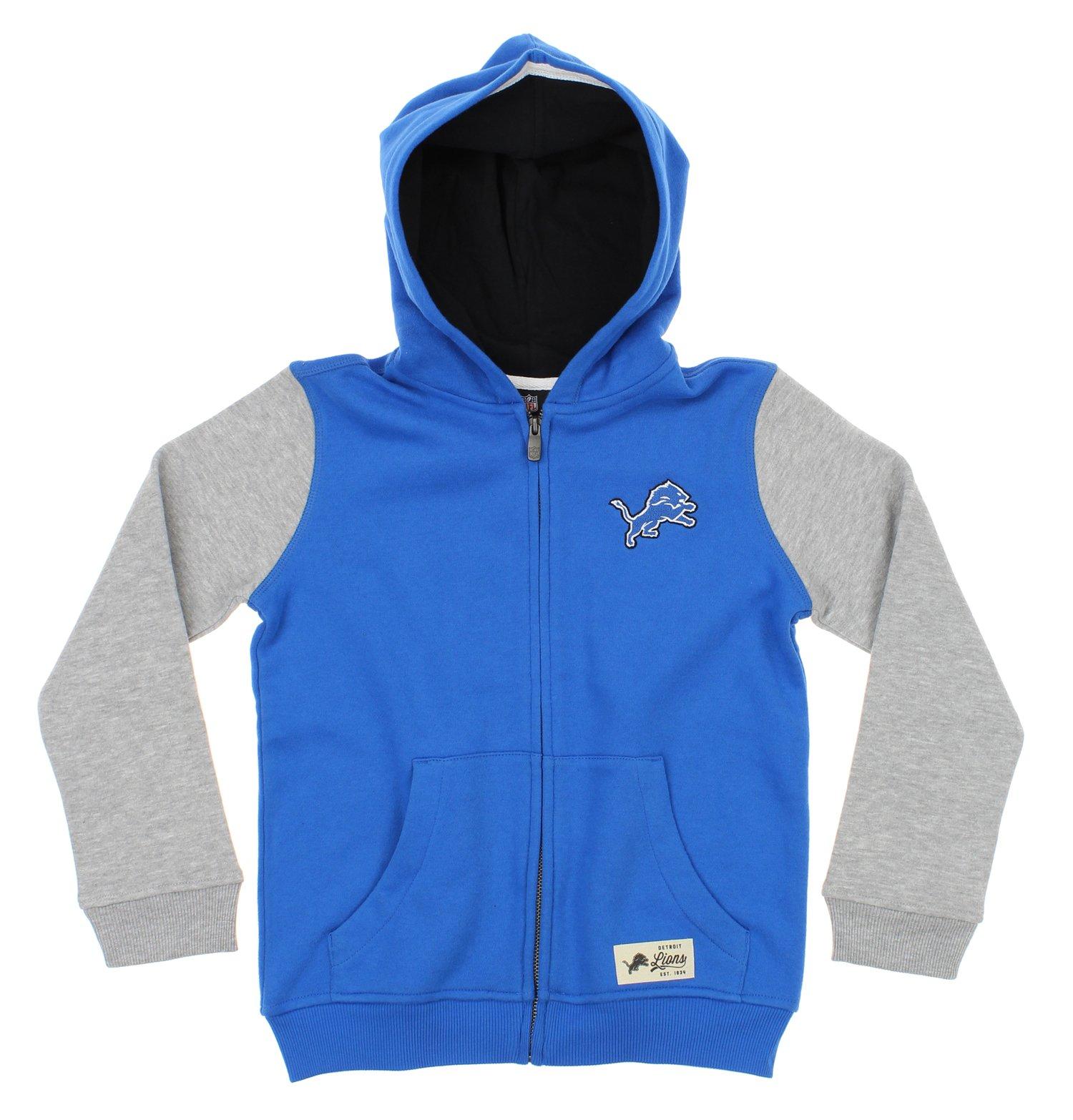 "NFL Youth Detroit Lions ""Legacy"" Full Zip Hooded Sweatshirt"
