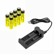 8-Pack INR 3000mAh 18650 Li-ion Rechargeable Batteries With Battery ChargerFor 16340 16650 18500 20700 21700 26650 14500 Battery