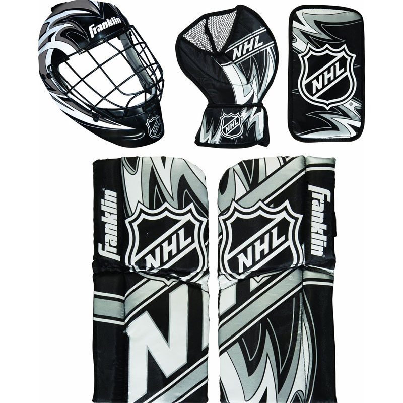 Franklin Sports NHL Mini Hockey Goalie Equipment and Mask Set