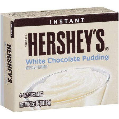Hershey's Instant White Chocolate Pudding Mix, 3.56 oz ...
