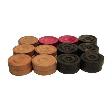 - Bullet Shot Carrom Board Coins - Professional Coins Wooden Carrom Game Coins Set, Wooden Checkers (24 Pieces) Approved & Recognized by International Carrom Federation