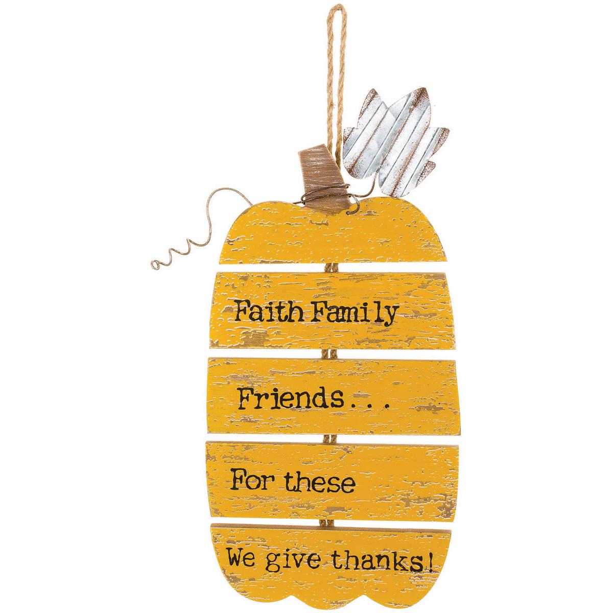 Give Thanks Pumpkin Wall Plaque- - image 1 de 1
