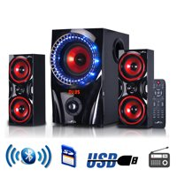 BeFree Sound BFS-99X 2.1 Channel Multimedia Bluetooth Speaker