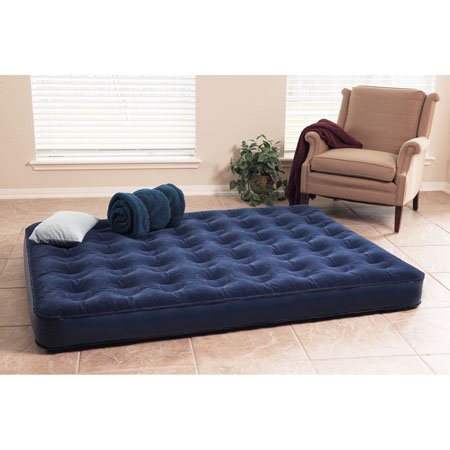 Deluxe Air Bed with Built In Battery Pump Queen