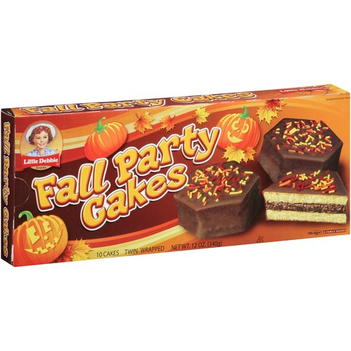 Little Debbie Snacks Chocolate Fall Party Cakes, 10 count