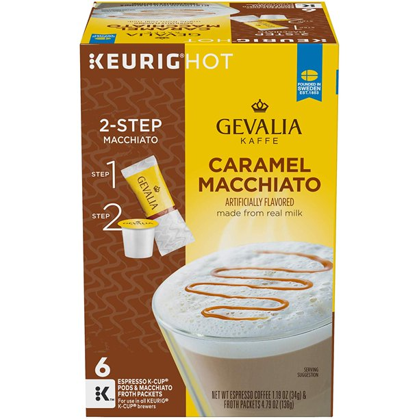 Gevalia Caramel Macchiato Espresso Coffee With Froth