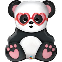 "Panda With Heart Foil Balloon 32"""