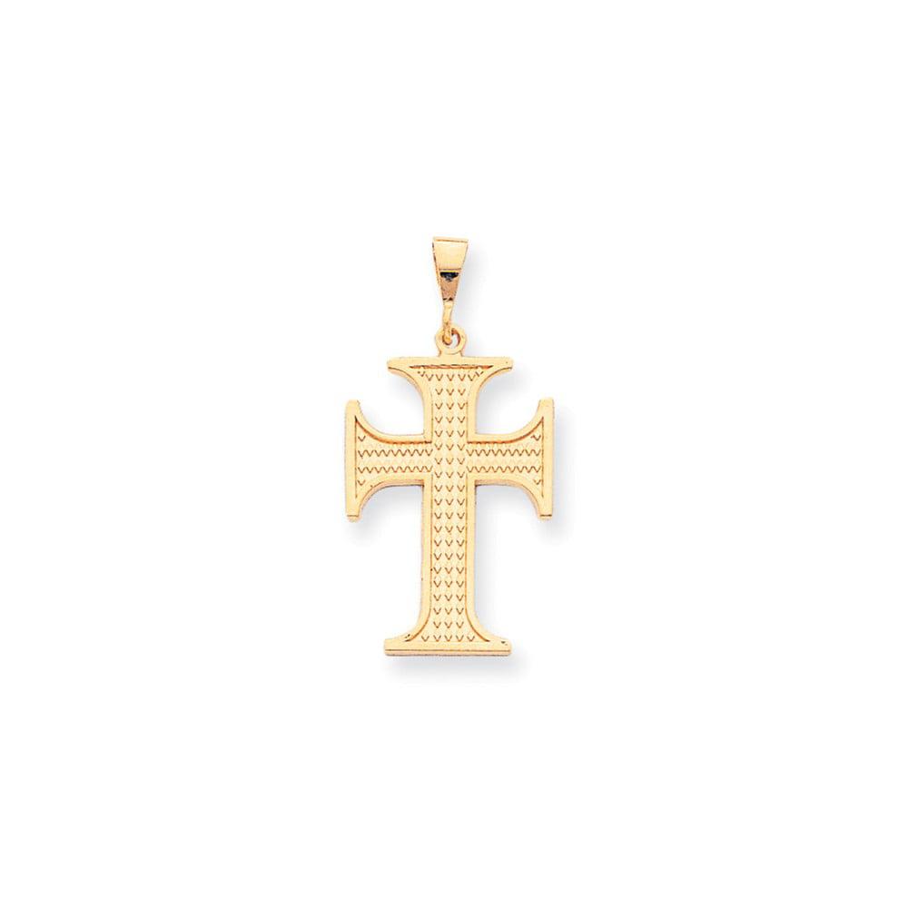 10k Yellow Gold Cross Charm (1.5in long x 0.8in wide)