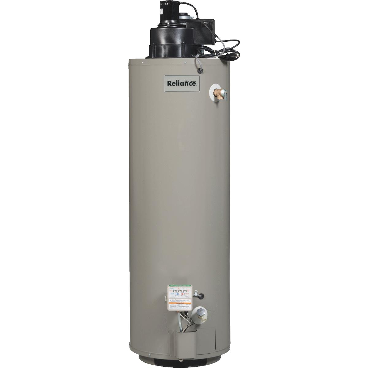Reliance 40gal Natural Gas Water Heater with Power-Vent