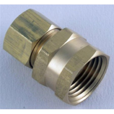 Comm Card - 508 66-6-6 Adptr Comp F 3/8 X 3/8, Ldr Industries, EACH, CD, Carded. Brass. Fema