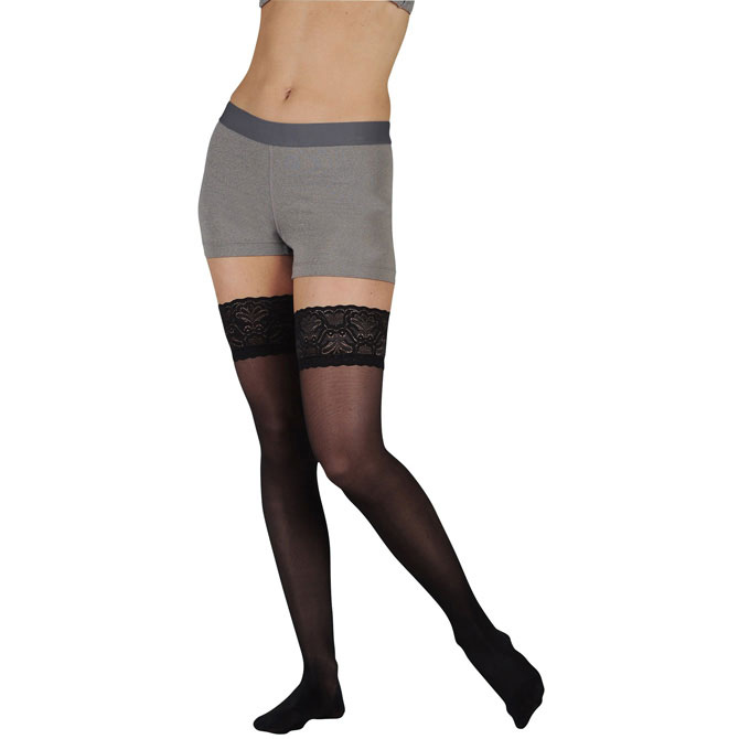 Juzo 5140 Attractive Line Thigh Highs  w/ Lace Border - 15-20 mmHg   JUZO5140AG-P