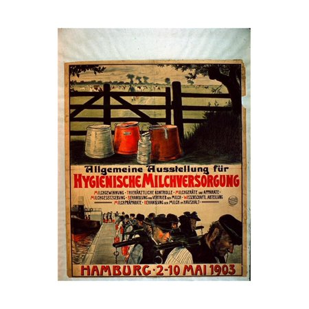 General Exhibition for Sanitary Milk Supply, 1903 Print Wall Art By German School