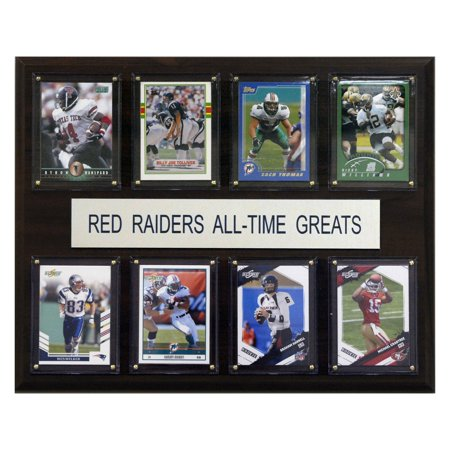 C&I Collectables NCAA Football 12x15 Texas Tech Red Raiders All-Time Greats Plaque