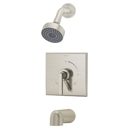 Duro Single Handle Tub and Shower Faucet with Integral Diverter in Satin Nickel