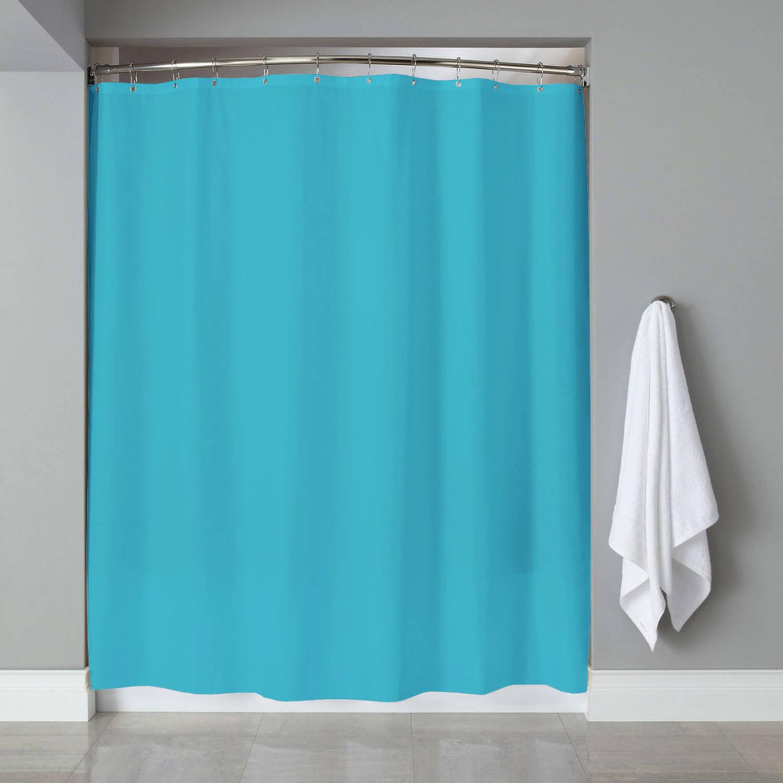 Vinyl Shower Curtain Liner /& Chrome Roller Hook Set Anti Mildew