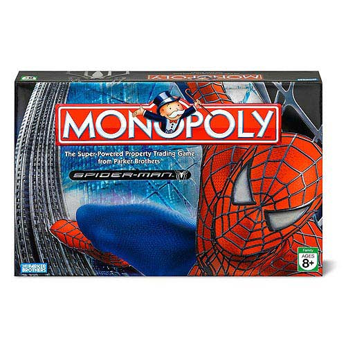 Spider-Man Edition Monopoly Property Trading Game Spiderman Action by