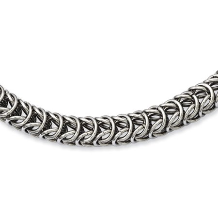 Men's Stainless Steel 7mm Fancy Link Chain Necklace 18 -