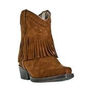 Laredo Western Boots Girls Fringe Snip Cowboy 6 Inch Kids Rust LC2281