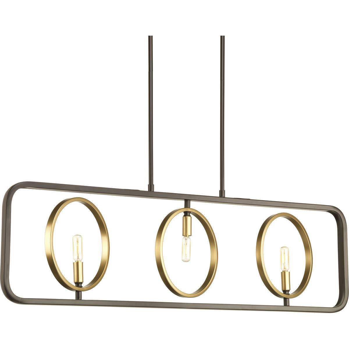 Swing Collection Three-Light Linear Chandelier